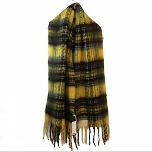 Urban Outfitters Scarf Brushed Plaid Large NWT